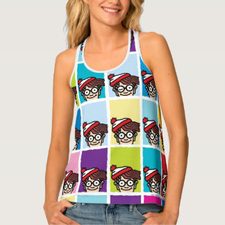 Where's Waldo Colorful Pattern Tank Top