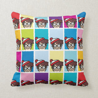 Where's Waldo Colorful Pattern Throw Pillow