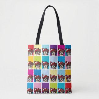 Where's Waldo Colorful Pattern Tote Bag