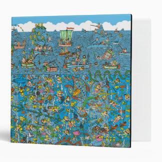 Where's Waldo Deep Sea Divers 3 Ring Binder