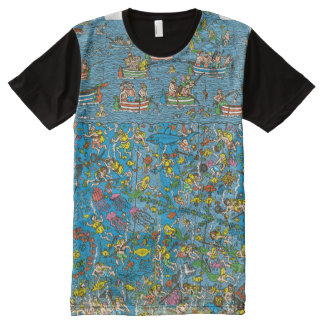 Where's Waldo Deep Sea Divers All-Over-Print Shirt
