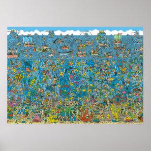 photograph regarding Where's Waldo Printable named Wheres Waldo Deep Sea Divers Poster