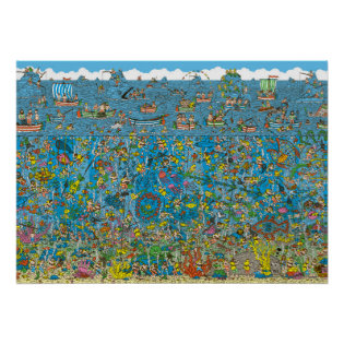Where's Waldo Deep Sea Divers Print