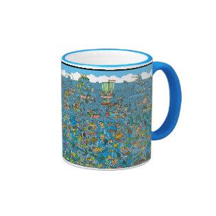 Where's Waldo Deep Sea Divers Ringer Coffee Mug