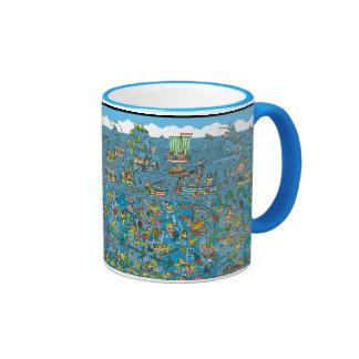 Where's Waldo Deep Sea Divers Ringer Mug