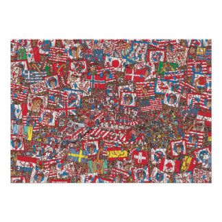 Where's Waldo Enormous Party Poster