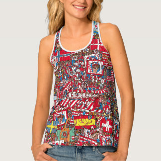 Where's Waldo Enormous Party Tank Top