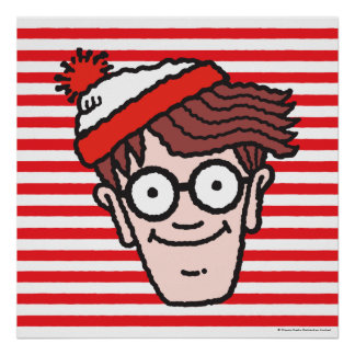 Where's Waldo Face Poster