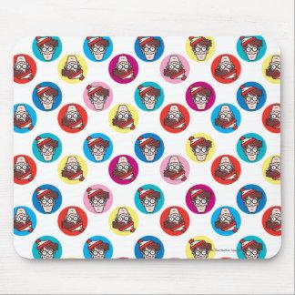 Where's Waldo Fun Circle Pattern Mouse Pad