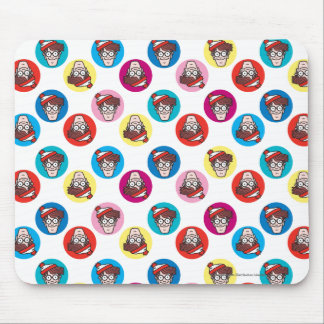 Where's Waldo Fun Circle Pattern Mouse Pad