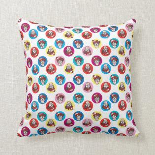 Where's Waldo Fun Circle Pattern Pillow