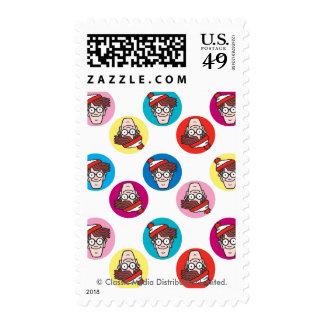 Where's Waldo Fun Circle Pattern Postage