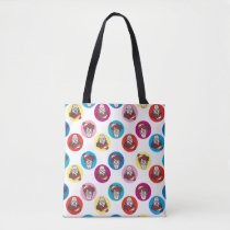 Where's Waldo Fun Circle Pattern Tote Bag