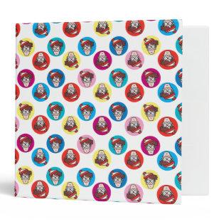 Where's Waldo Fun Circle Pattern Vinyl Binder