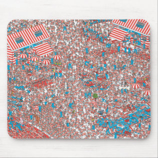 Where's Waldo Land of Woofs Mouse Pad