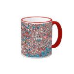 Where's Waldo Land of Woofs Ringer Coffee Mug