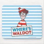 Where's Waldo Logo Mouse Pad