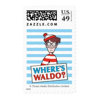 Where's Waldo Logo Postage