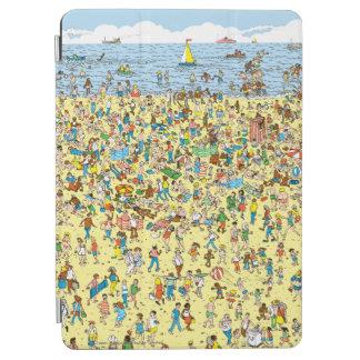 Where's Waldo on the Beach iPad Air Cover