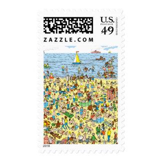 Where's Waldo on the Beach Postage