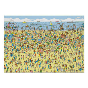 image regarding Where's Waldo Printable titled Wheres Wally Posters Image Prints Zazzle