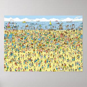 image regarding Where's Waldo Printable titled Wheres Wally Posters Image Prints Zazzle