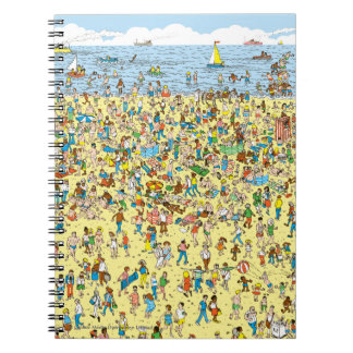 Where's Waldo on the Beach Spiral Notebook