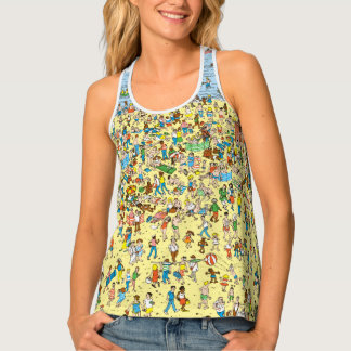Where's Waldo on the Beach Tank Top