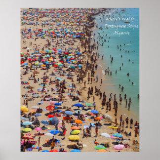 Where's Waldo Portuguese Style, Algarve Poster