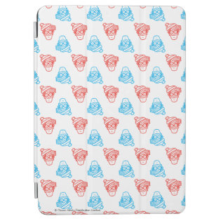 Where's Waldo Red and Blue Face Pattern iPad Air Cover