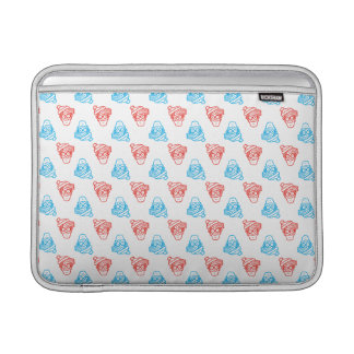 Where's Waldo Red and Blue Face Pattern Sleeve For MacBook Air