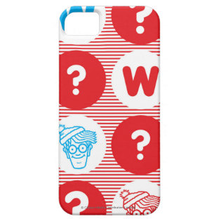 Where's Waldo Red, White and Blue Pattern iPhone 5 Cover