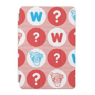 Where's Waldo Red, White and Blue Pattern iPad Mini Cover