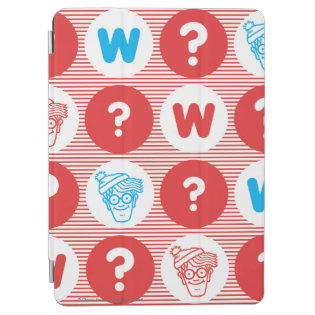 Where's Waldo Red, White and Blue Pattern iPad Air Cover