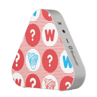 Where's Waldo Red, White and Blue Pattern Bluetooth Speaker