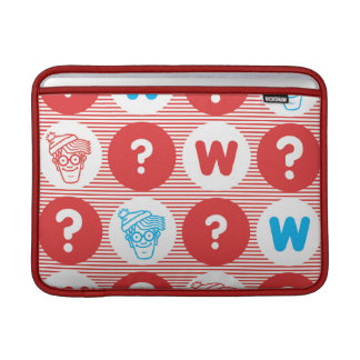Where's Waldo Red, White and Blue Pattern Sleeve For MacBook Air
