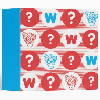 Where's Waldo Red, White and Blue Pattern Vinyl Binder