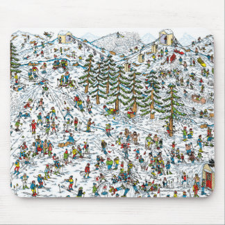 Where's Waldo Ski Slopes Mouse Pad