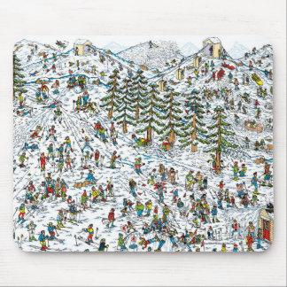 Where's Waldo Ski Slopes Mouse Pad