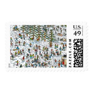 Where's Waldo Ski Slopes Postage