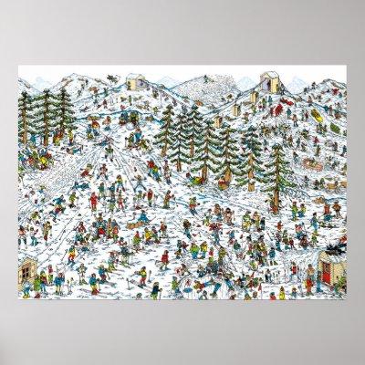 Where's Waldo on the Beach Poster   Zazzle