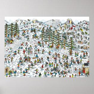 Where's Waldo Ski Slopes Posters