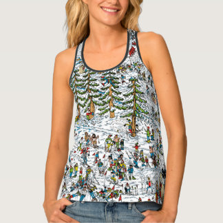 Where's Waldo Ski Slopes Tank Top