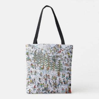 Where's Waldo Ski Slopes Tote Bag