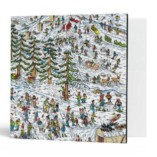 Where's Waldo Ski Slopes Vinyl Binder