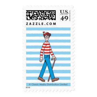 Where's Waldo Walking Stick Postage Stamps