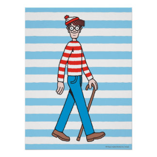 Where's Waldo Walking Stick Poster