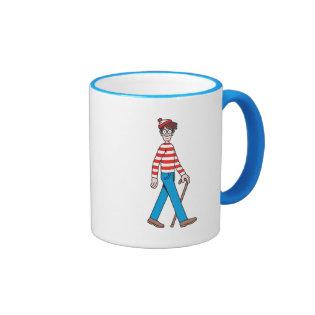 Where's Waldo Walking Stick Ringer Coffee Mug