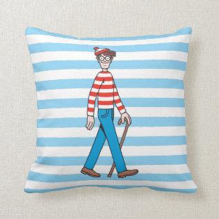 Where's Waldo Walking Stick Throw Pillows