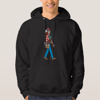 Where's Waldo with all his Equipment Hooded Pullover